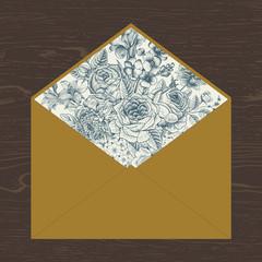 Floral envelope.