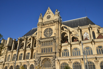 France, saint Eustache church in Paris