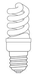 Contour energy saving lamp