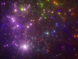 Purple starfield