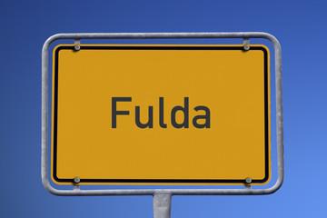 Ortseingangsschild Fulda