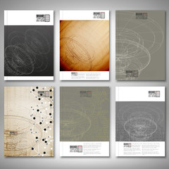 Conceptual design, technology background vector. Brochure, flyer