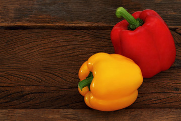 Red and Yellow sweet pepper.