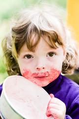 Portrait of little girl in summer