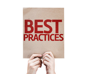 Best Practices card isolated on white background