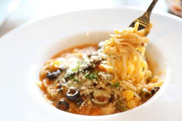 spaghetti beef stew