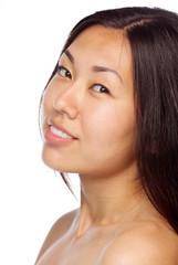 Young asian girl closeup