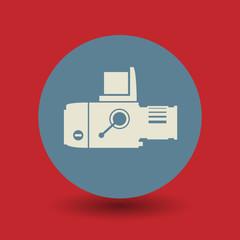 Retro photography symbol, vector