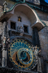 Prague astronomical clock closeup