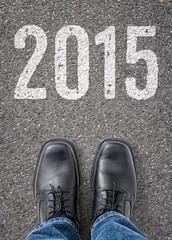 Text auf Boden - 2015