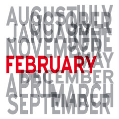 Vector february background