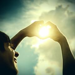 Hands in Heart Shape