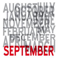 Vector september background