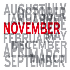Vector november background