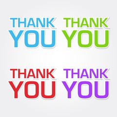 Thank You Colorful Vector Icon Design