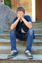 Sad Teenager outdoor
