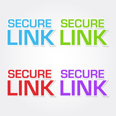 Secure Link Colorful Vector Icon Design