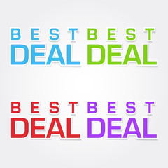 Best Deal Colorful Vector Icon Design
