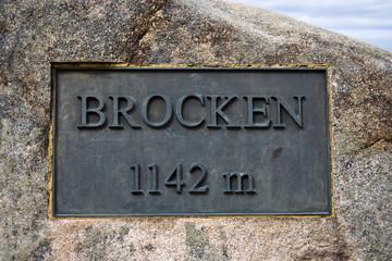 Height Mark on Brocken / Harz