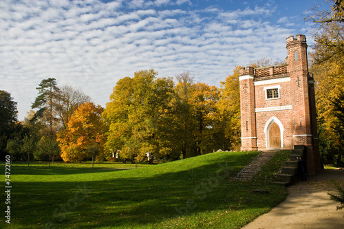 canvas print picture Schlangenhaus in the Park Luisium, Dessau