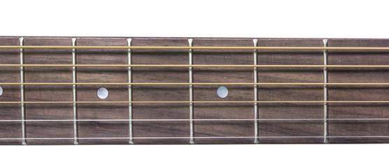 Detail closeup of neck classic guitar