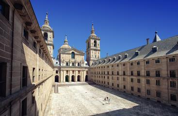Interior yard of El Escorial in Madrid