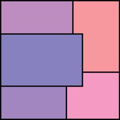 Cubism. Pink