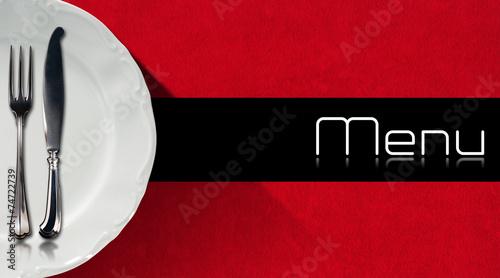 Papiers peints Table preparee Restaurant Menu Design