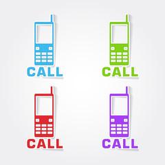 Phone Colorful Vector Icon Design