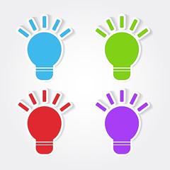 Bulb Colorful Vector Icon Design