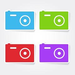 Camera Colorful Vector Icon Design