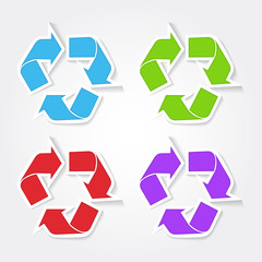 Recycle Colorful Vector Icon Design