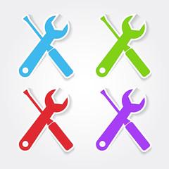 Tools Colorful Vector Icon Design
