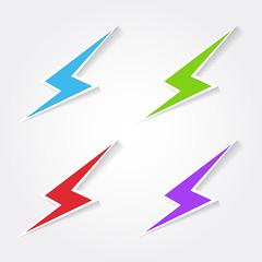 Energy Colorful Vector Icon Design