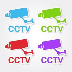 CCTV Sign Colorful Vector Icon Design