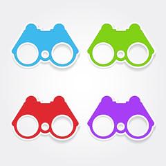 Binocular Colorful Vector Icon Design