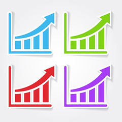 Graph Colorful Vector Icon Design