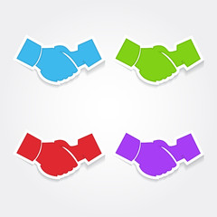 Deal Sign Colorful Vector Icon Design