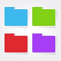 Folder Colorful Vector Icon Design