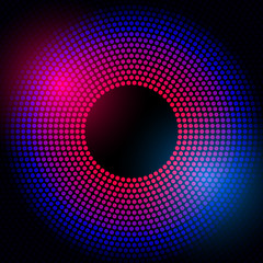 Abstract disco background with halftone.