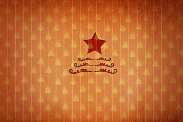 red christmas star in red christmas wallpaper background