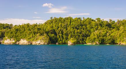 Coastline in the Togian archipelago