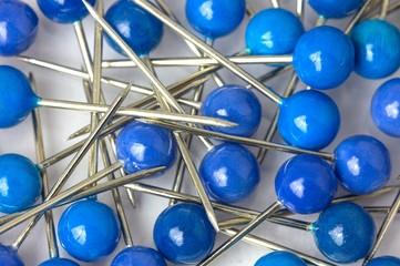 Stecknadeln blau