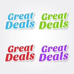 Great Deals Colorful Vector Icon Design