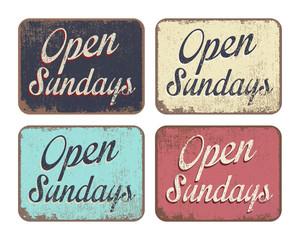 Panneaux - Open Sundays
