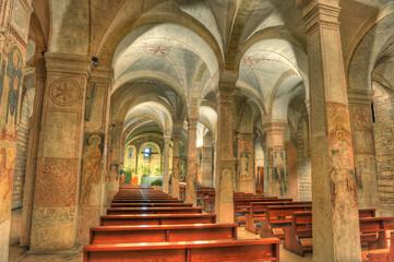 Italian church interior.