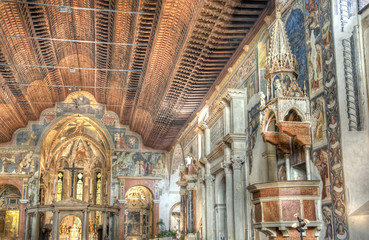 Italian church interior.