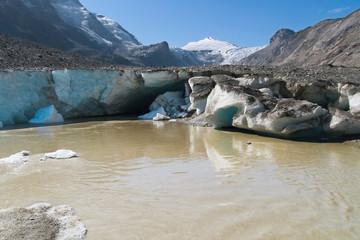 Melting of the Pasterze glacier