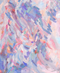 Coloured oil paint strokes