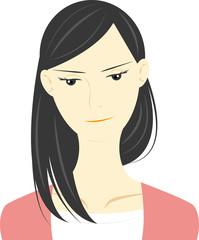 セミロング女性